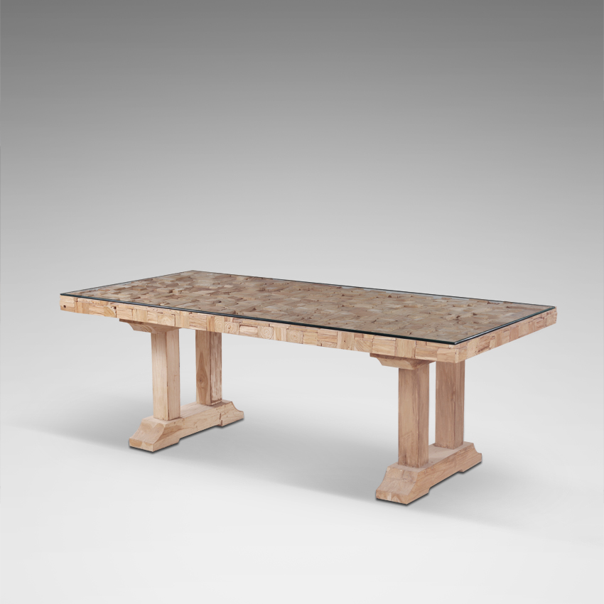 High Quality Solid Teak Wood Dining Table Modern Indonesia Furniture