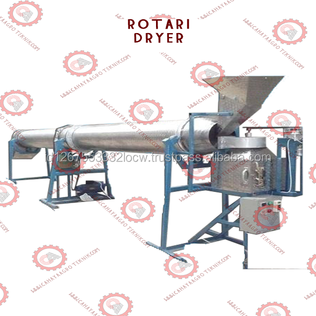 High Speed Rotary Dryer Food Snack Stainless Steel