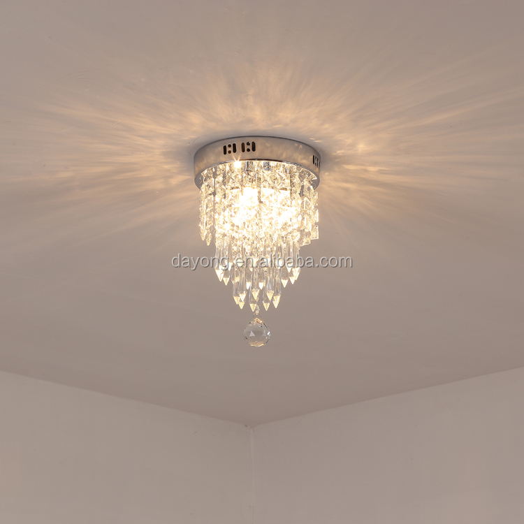 Commercial Aluminum Crystal  Ceiling Pendant Lighting Lamp in Living Room Shop Coffee Hallway