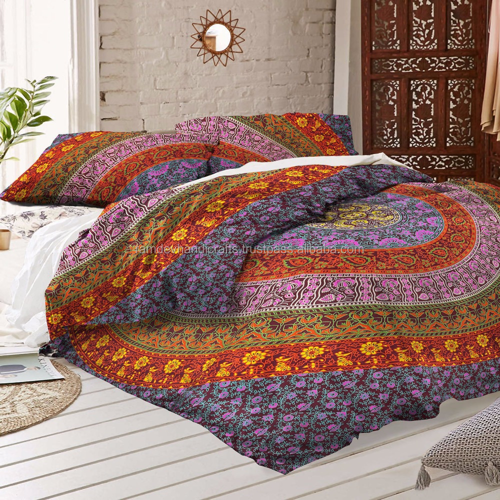 Indian Mandala Duvet Cover Queen size Blanket Quilt Cover Bedspread Bedding