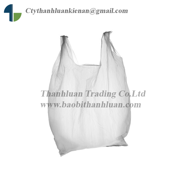 supermarket, grocery, promotion custom design HDPE LDPE PE Packaging T Shirt Plastic bag