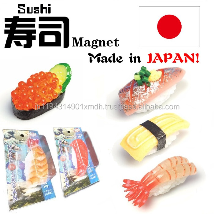 Japanese artificial cucumber roll sushi magnet for whiteboards