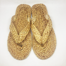 Natural Shoes Craft Handmade Spa Slipper Hotel Sandal Beach Shoes Straw Sandal Product of Thailand