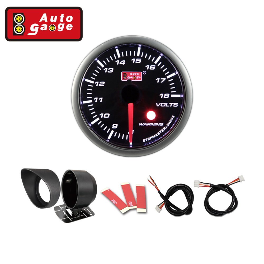 needle smoked lens electrical volt gauge