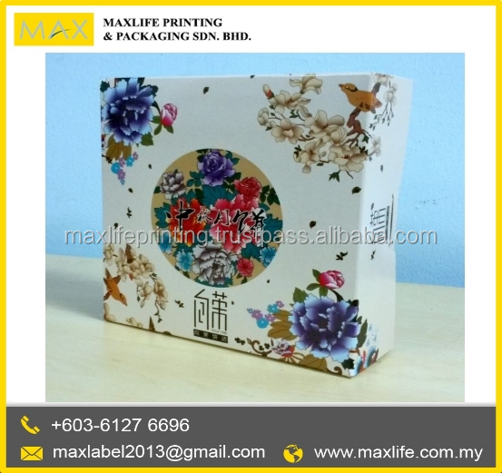 High Quality Packaging Paper Box Customized Square MoonCake Box Design Packaging
