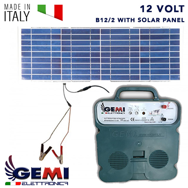 Electric Fence B12/2 Extrastrong with solar panel