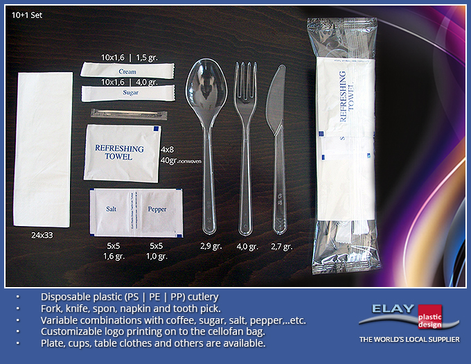 3 in 1/4 in 1/5 in 1/6 in 1/7 in 1/ flatware cutlery set/disposable cutlery pack/airline