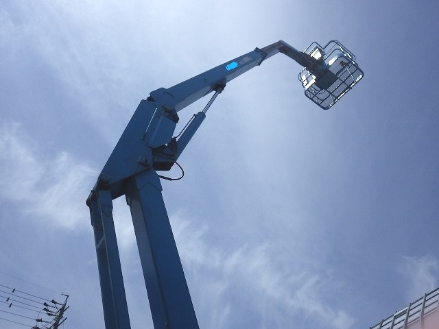 < SOLD OUT>USED NAGANO TABLE LIFT NUL090-3 9m BOOM LIFT for Sale FROM JAPAN