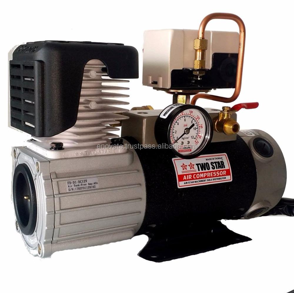 Manufacturer Price Taiwan Made 12V DC Oil Free mini Onboard Air Compressor