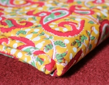 Indian Hand Block Printed Floral Cotton Fabric Clothing Voile Fabric Jaipuri Natural Loose Fabric from india