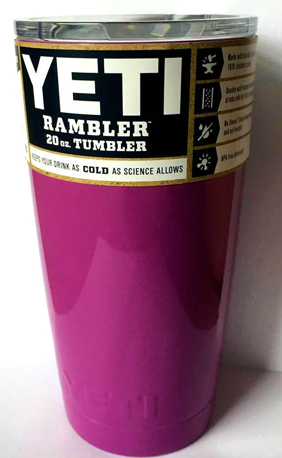 ALL NEW Yetis Rambler Produt Tumbler 20oz- Powder Coated Cup