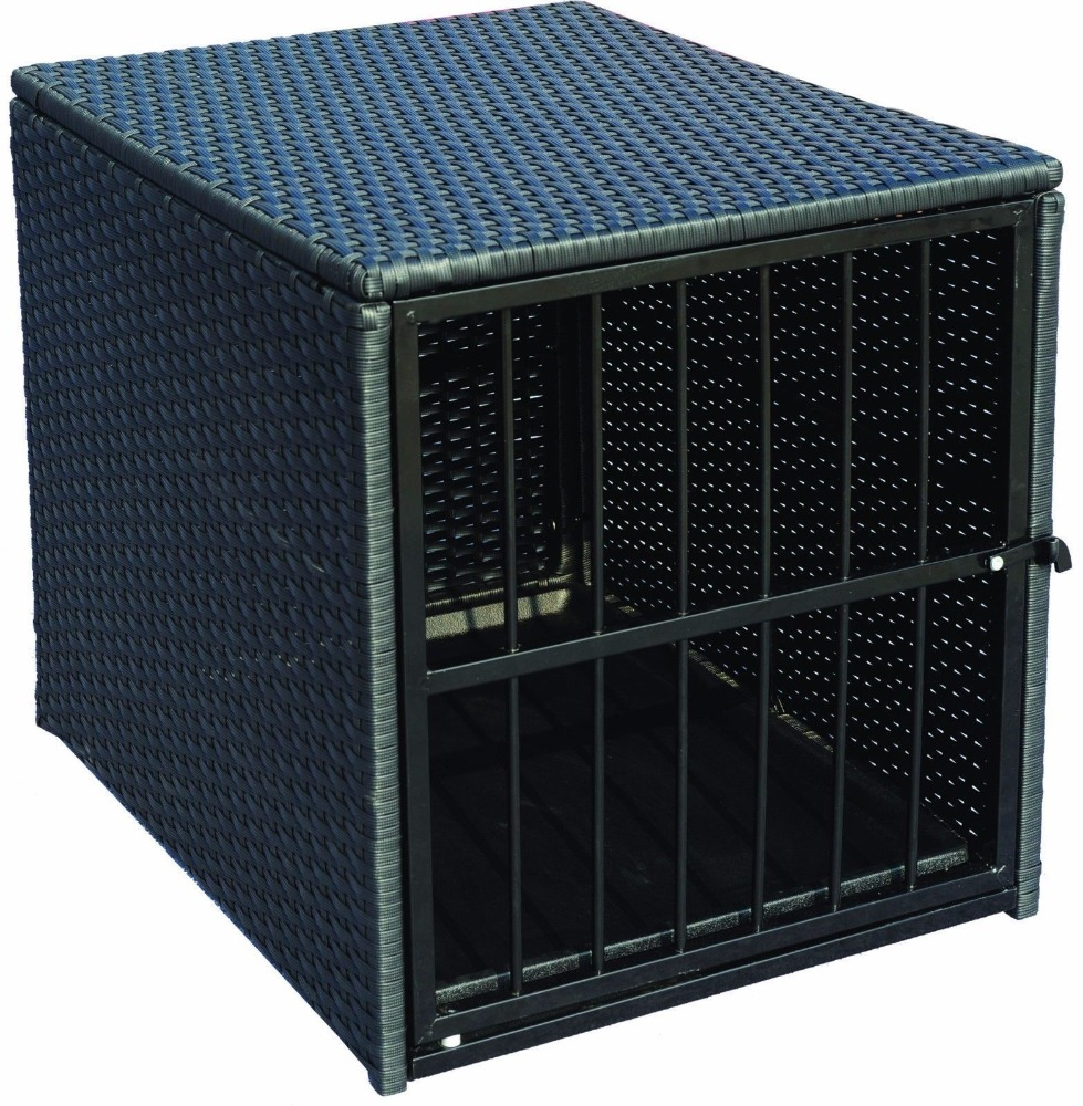 Deluxe All Weather Wicker Dog Crate