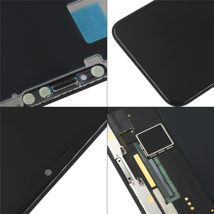 Full Digitizer Assembly for iPhone X LCD Display Screen Replacement with Proximity Sensor + Ear Speaker + Repair Tools