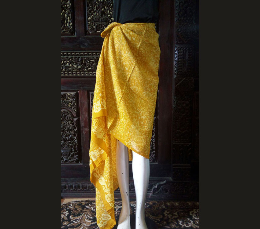 Beach Sarong For Woman Made From Sifon Fabric Indonesian Batik