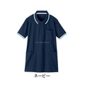 Short sleeves polo shirt for Lady's ( long length ). Made by Japan