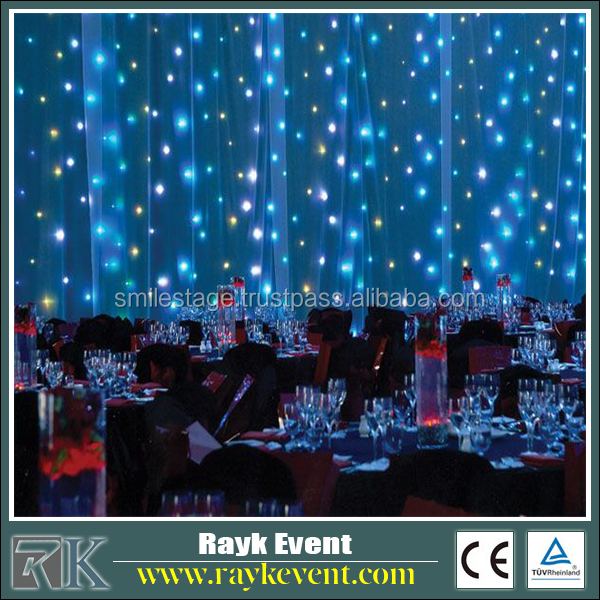 Twinkling stars led curtain lights outdoor stage lighting led shooting star cicle light