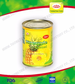 Canned pineapple OEM Label made in Vietnam from fresh Pineapple