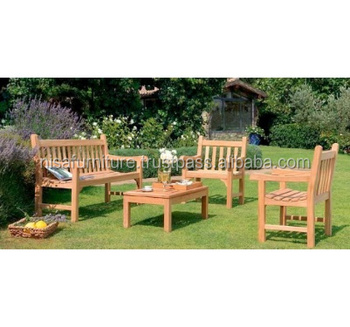 Teak wood Garden Chair Table and Bench outdoor furniture