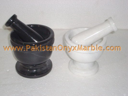 MARBLE MORTAR AND PESTLE HANDICRAFTS
