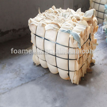 PU scrap foam/waste sponge, single white color/mixed color, less skins, 100% dry and clean
