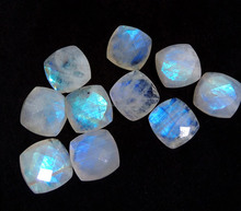 131Cts Natural Fire Rainbow Moonstone 16mm Cushion Shape Faceted Wholesale Semiprecious Loose Gemstone supplier