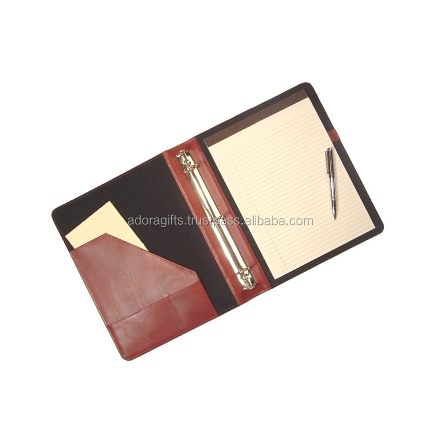 Smart Travel Excutive Leatherette 3 Rings Binder Padfolio /New Leather Padfolio Organizer Planner 3 Ring Binder