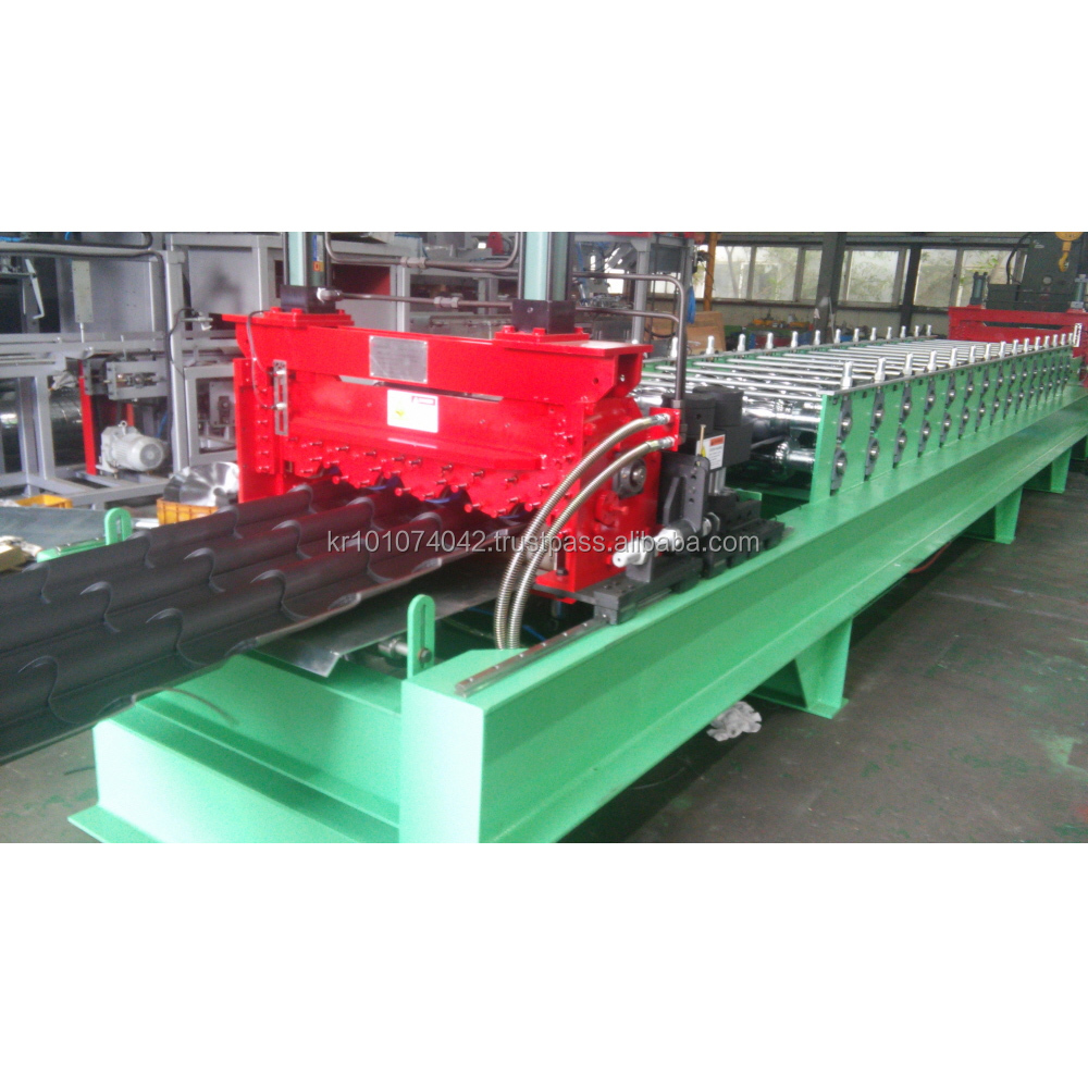 Best price high qauality colored glaze steel roof tile forming and making machine