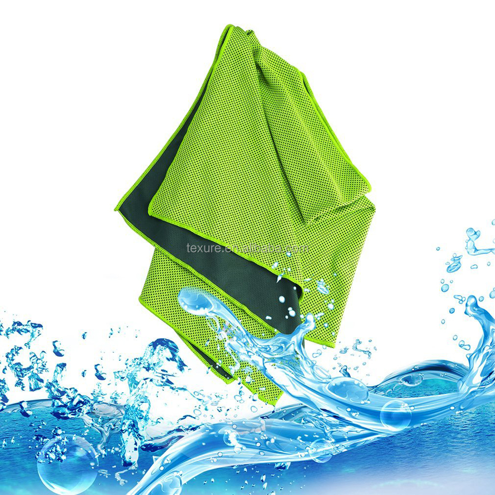 Portable Outdoor Summer ice towel sport cooling towel with bag