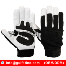 Mechanics Gloves Made of Goatskin Leather knuckle Strap Gloves