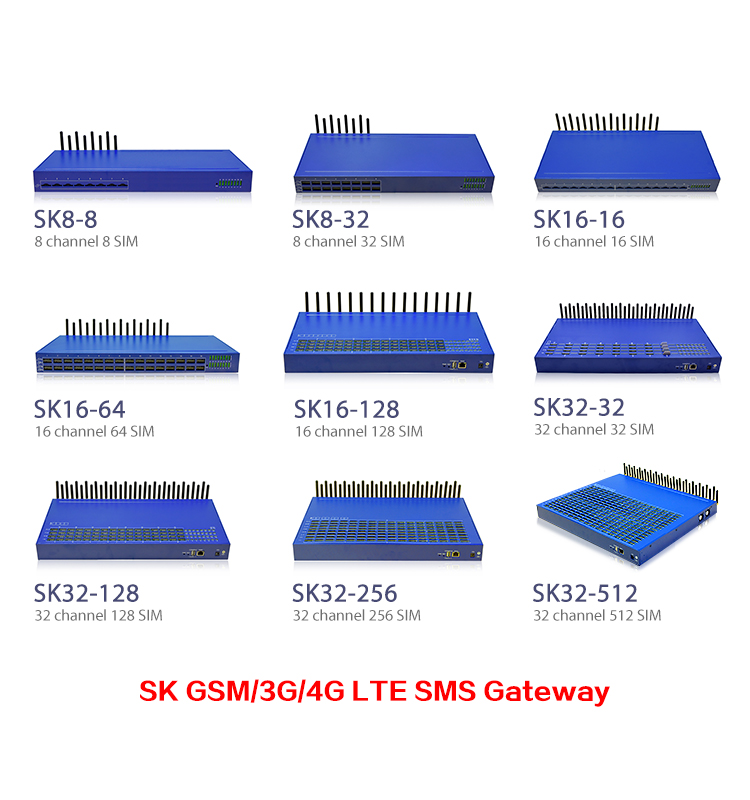 New arrival! 8 port goip gsm gateway SK 32 channels 512 sims gsm sip voip gateway