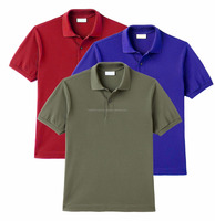 Classic Slim Fit Polo Shirts Mens Custom Tee Shirt With Customize Labeling