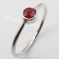 925 Sterling Silver CUT RED RUBY Gemstone LIGHTWEIGHT Finger Ring Any Size 5 to 10 NEW