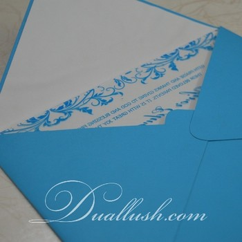 Acrylic Invitation Blue Acrylic Wedding Invitation Laser Cut Clear Acrylic invitation