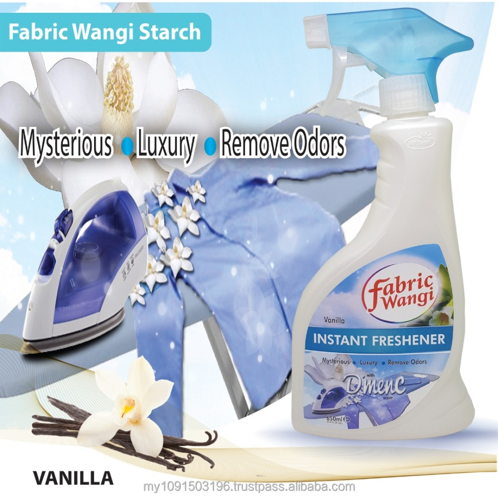 AFY Haniff D'menc Fabric Wangi Starch (Vanilla) 650ml Fabric Freshener Cool Air