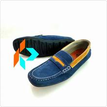 Best Quality Navy Blue Casual Loafer Slip-On Men Shoes Nubuck Leather MY-60026