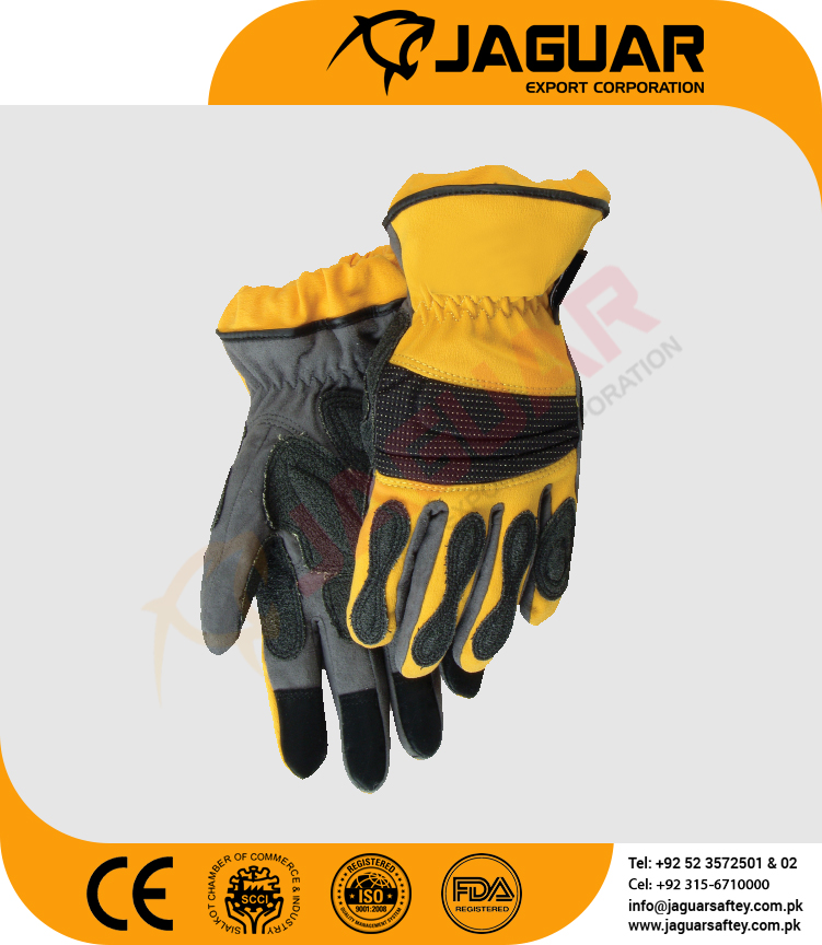 Oil field Industry Mechanic impact puncture cut resistant glove with sponge