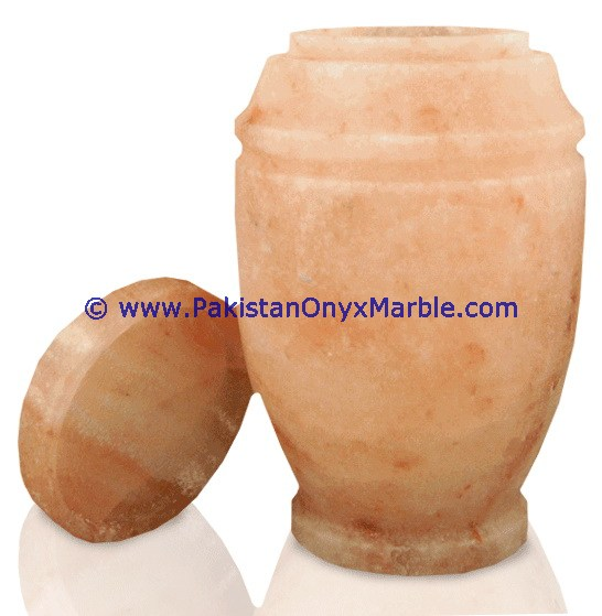 HOT SALE POPULAR HIMALAYAN ROCK SALT URN ASHES ADULT CREMATION