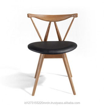 Hot Sale modern restaurant furniture Teak Wood Dining Chair