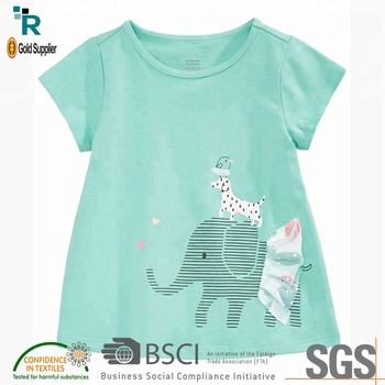Hot Sale Awesome Cheap Kids Girl Short Sleeve T Shirts For Children