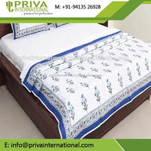 block print fines quilting work with Kantha pattern Hand Embroidery Baby Quilt is made of Soft Cotton bedding set