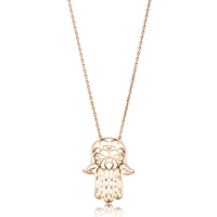 Origami Hamsa Charm Necklace Jewelry, 925 Sterling Gold Plated Trending Jewellery