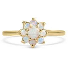 factory wholesale Engagement opal stone ring for women 14k Yellow Gold jewelry