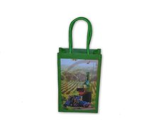 Jute wine bag with jute self handle
