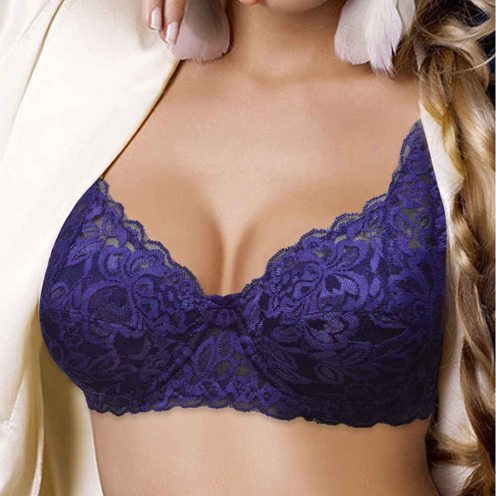 Customized size bra for women embroided net wholesale
