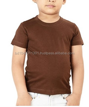 Top level latest cheap plain kids colored cotton t-shirt