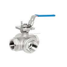 L-3L Lever Operated Manual 3-WAY Type Medium Pressure Stainless Steel Ball Valve