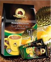 Instant 4 In 1 Malaysia Ipoh White Coffee Musang King Durian
