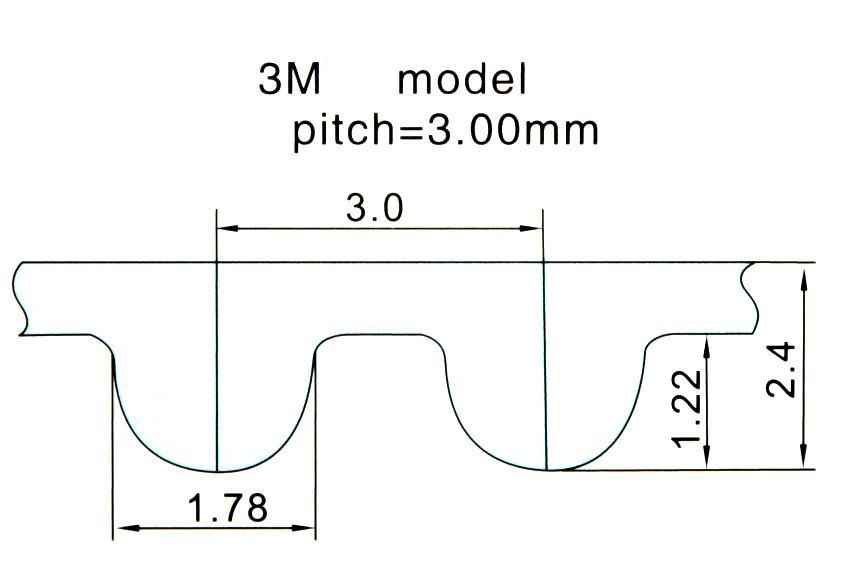 1 шт./партия 3 м 20 зубчатый шкив диаметр 10 мм для ремня ширина зубьев алюминий 3m