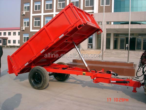 Farm tractor use reliable quality tipper trailer