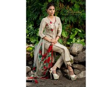 New Fashion Designer Russian Silk Embroidered Pakistani Designer Salwar Kammez Suit